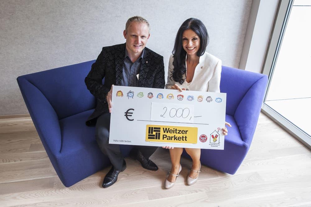 Neues Zuhause auf Zeit: Weitzer Parkett sponsert das Ronald McDonald Haus